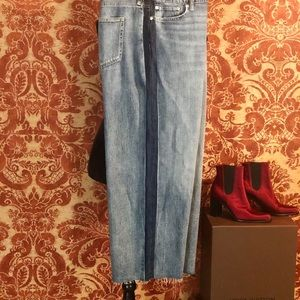 Ralph Lauren cropped wide leg Denim
